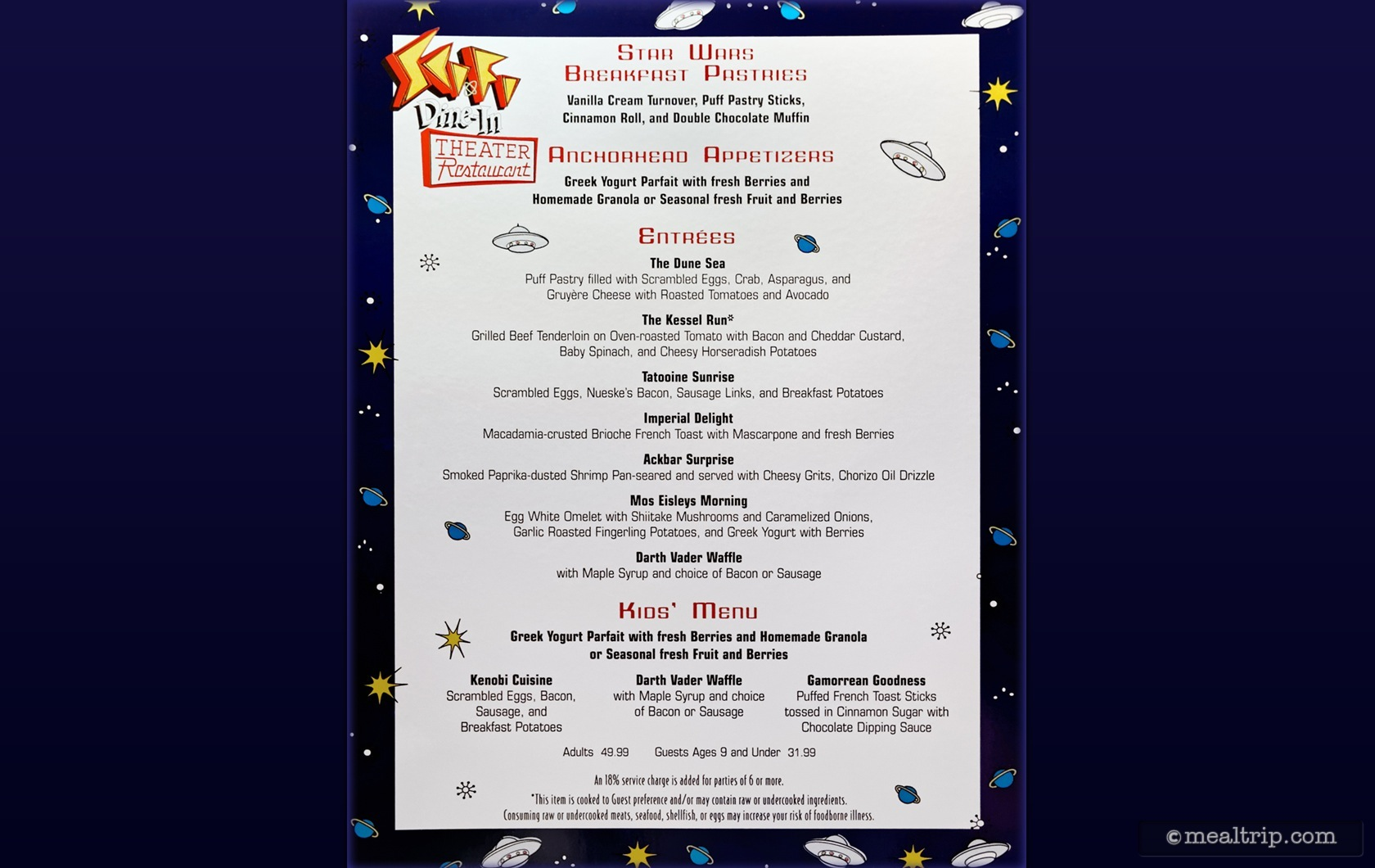 Star Wars Dine In Galactic Breakfast At Sci Fi Reviews And