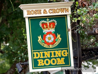Rose & Crown Dining Room Dinner